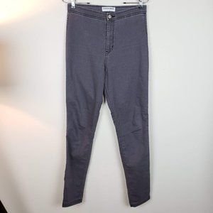 American Apparel High Waisted Grey Jeans Large